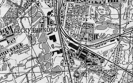 Фрагмент карты Москвы 1968 года. Фото: retromap.ru