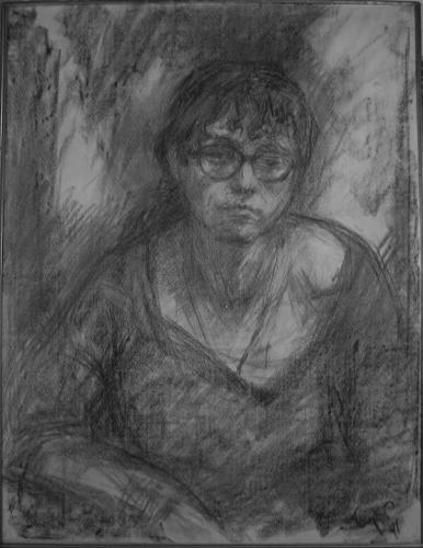 Борис Биргер. Портрет Натальи Горбаневской, 1974