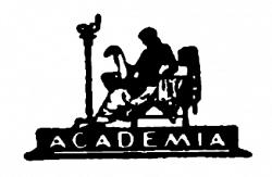 Издательская марка «Academia» работы Г. П. Любарского. Фото: «Academia». 1922–1937. Выставка изданий и книжной графики. М.: Книга, 1980